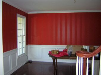 wall stripes Dining Room Painting
