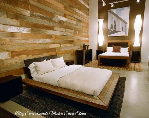 Construindo minha casa clean camas baixas em estilo for Cama tipo japonesa
