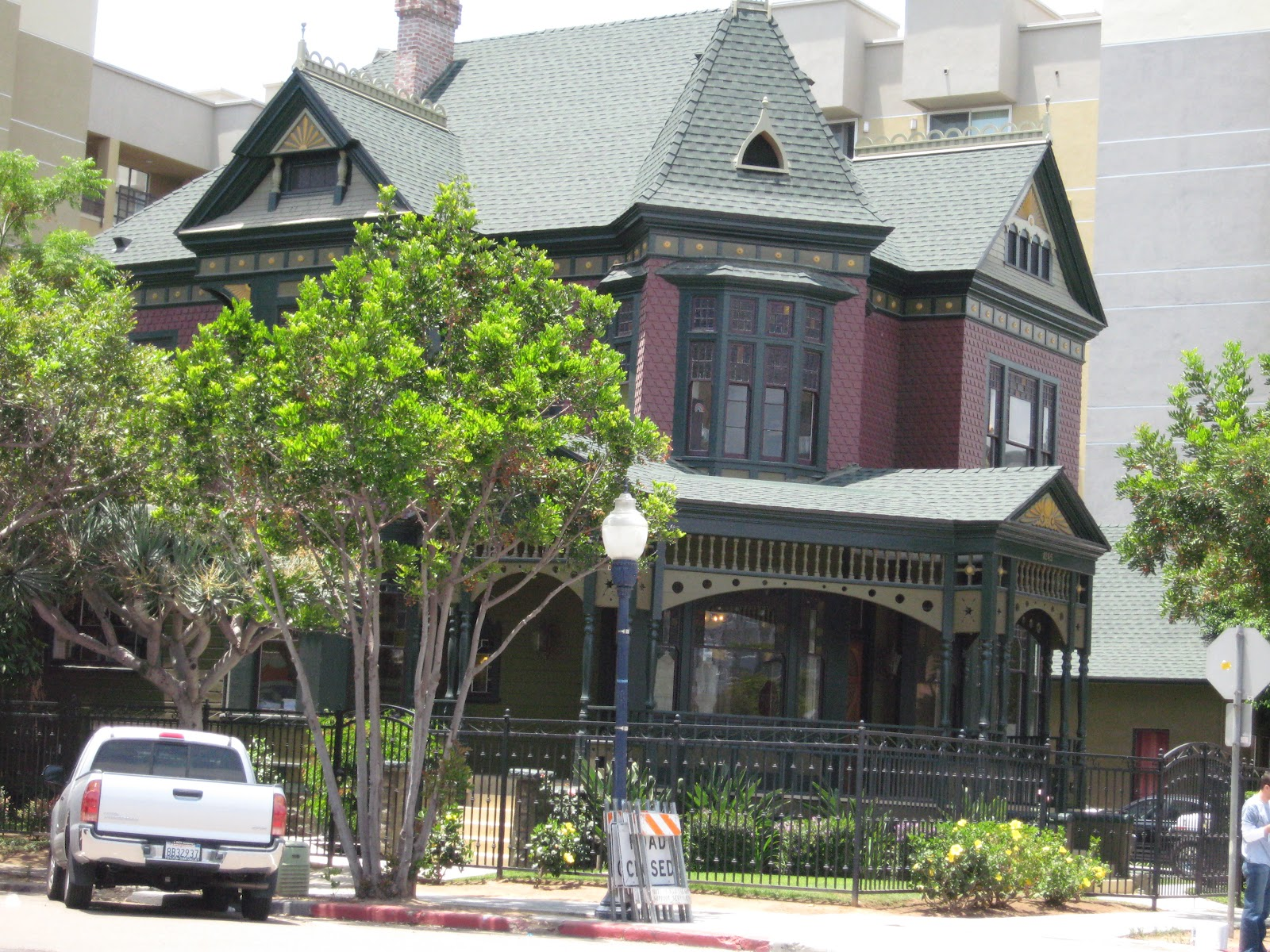 Victorian Home Shingle Roof Downtown San Diego