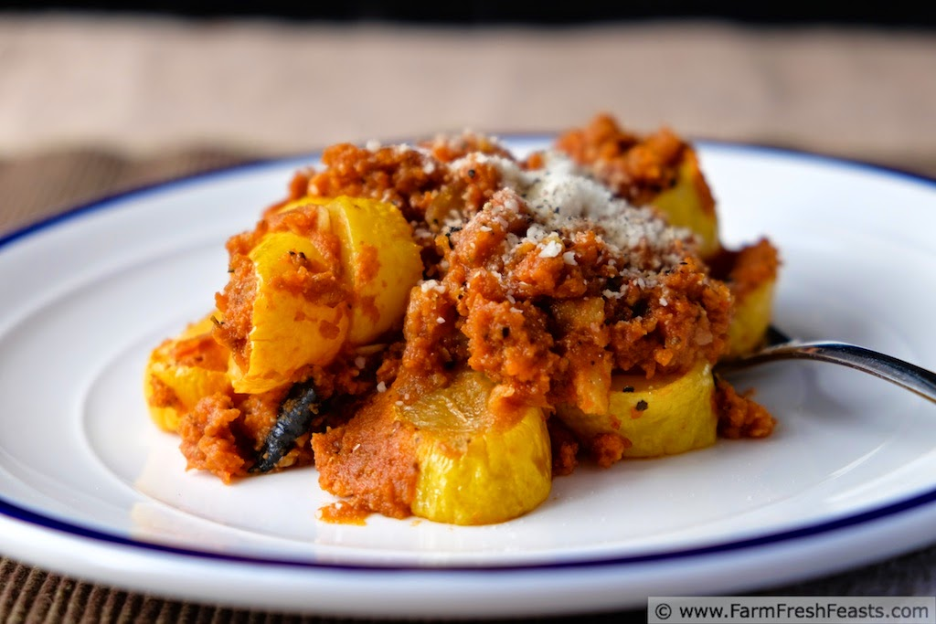 Summer Squash in Spaghetti Sauce Side Dish | Farm Fresh Feasts