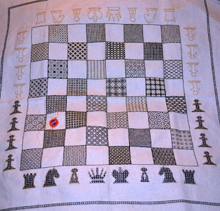 Blackwork Chessboard for Jeff