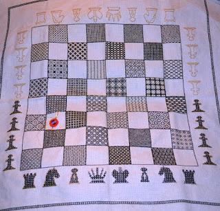 Blackwork Chessboard for Jeff