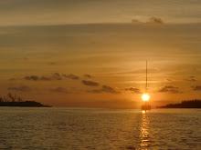 zonsondergang bij de Cayo's