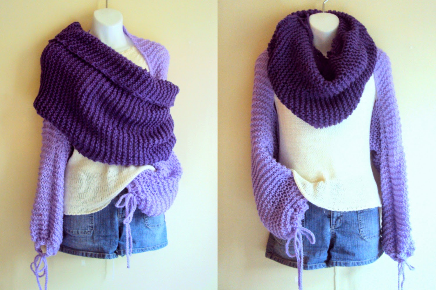Grahams Bazaar - Knit and Crochet Touches by Seb : Knit Shrug Tube Scarf Shaw...