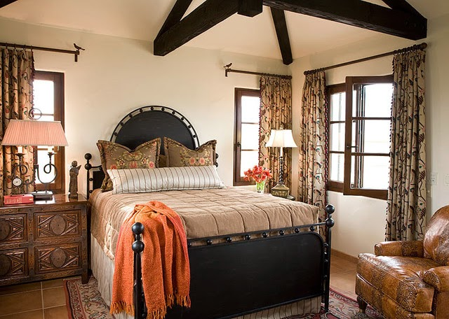 Interior bedroom Spanish style  Tips and examples for Interior Spanish style  in stylish home. Spanish Style Bedroom