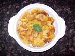 Food Mosaic: Batata bhaji(kachrya)Crispy sliced potato