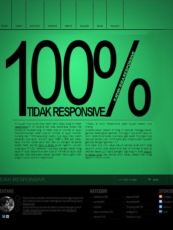 Tidak responsive