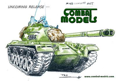 M48 Tank Combat Models Sketch