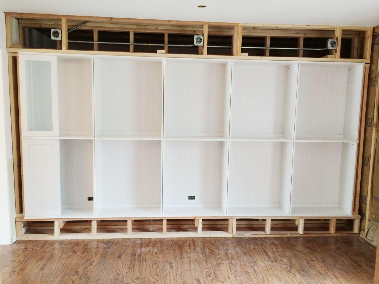Avery street design blog diy summer school ikea hack for Built in nook shelves