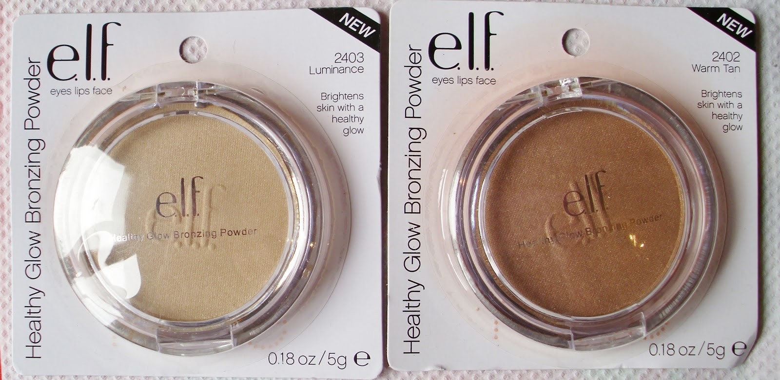 Ninas bargain beauty elf healthy glow bronzing powders review hey everyone today i am reviewing the healthy glow bronzing powders in luminance and warm tan by elf there are 4 different bronzes from the essential ccuart Choice Image