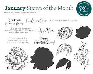 January Stamp Of The Month - Beloved Bouquet!