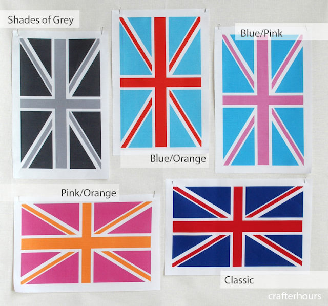 pop art union jack skirt shirt fabric design