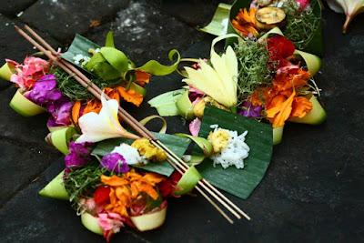 Offerings to god in Bali Island