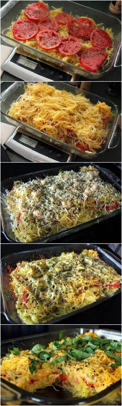 Tomato Basil Spaghetti Squash Bake ~ knowkitchen