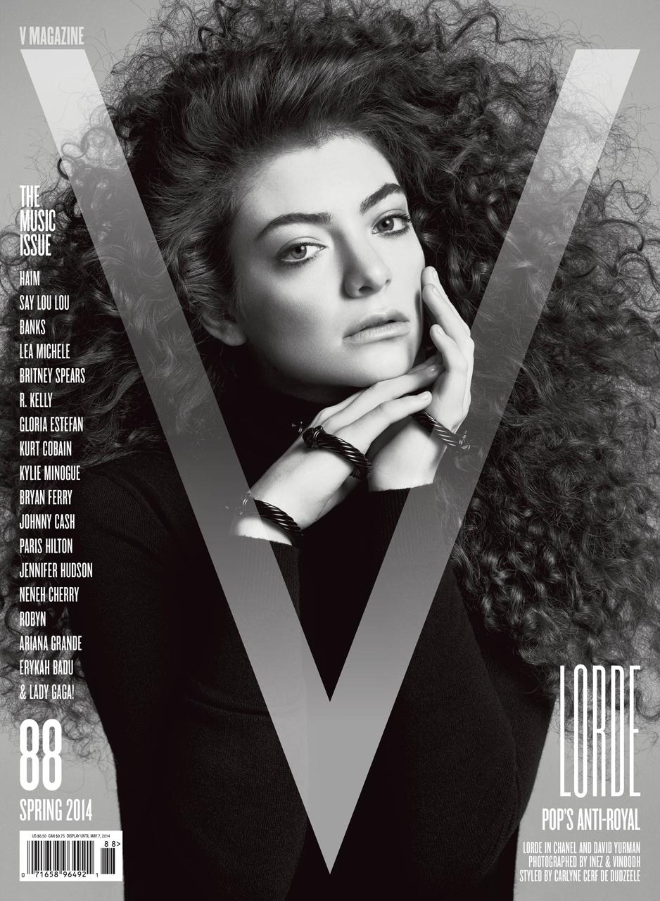 Smile Banks HAIM Lorde & Say Lou Lou in V Magazine 88 Spring