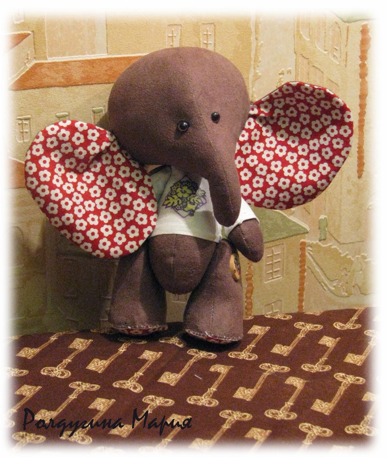слоник в стиле тедди