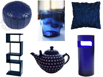Zgodni dodaci indigo plave boje