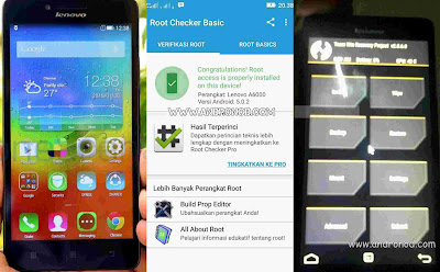 Root dan Install TWRP Recovery Lenovo A6000/Plus Lollipop