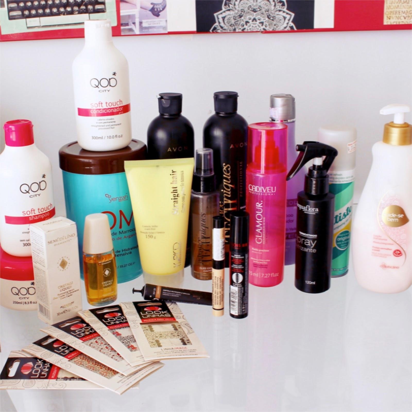 Últimos produtos de beleza testados
