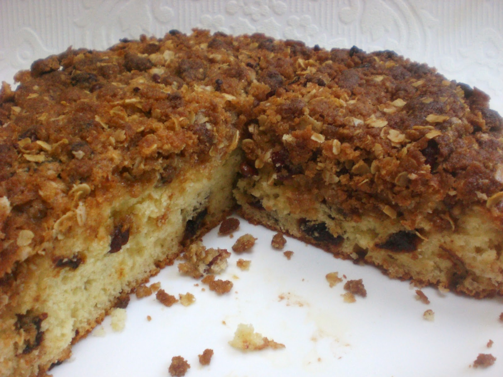 Warrior Girl- Rowena Murillo: Quick Coffee Cake with Dried Cherries