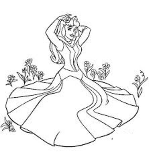 Sleeping beauty coloring pages free for kids disney for Sleeping beauty coloring pages to print