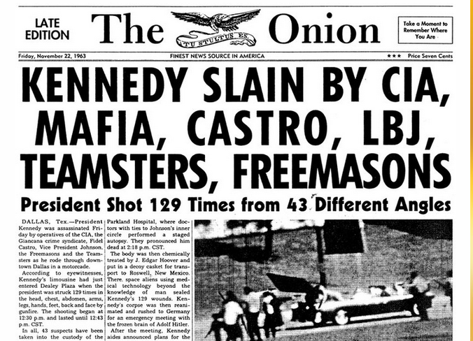john f kennedy s assassination theories The jfk assassination ap this much we can stipulate: president john f kennedy was assassinated on nov 22, 1963, struck by two bullets — one in the head, one in the neck — while riding in.