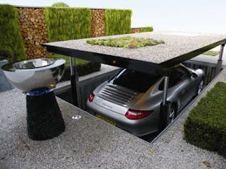 ที่จอดรถแบบเลื่อนลงใต้ดิน