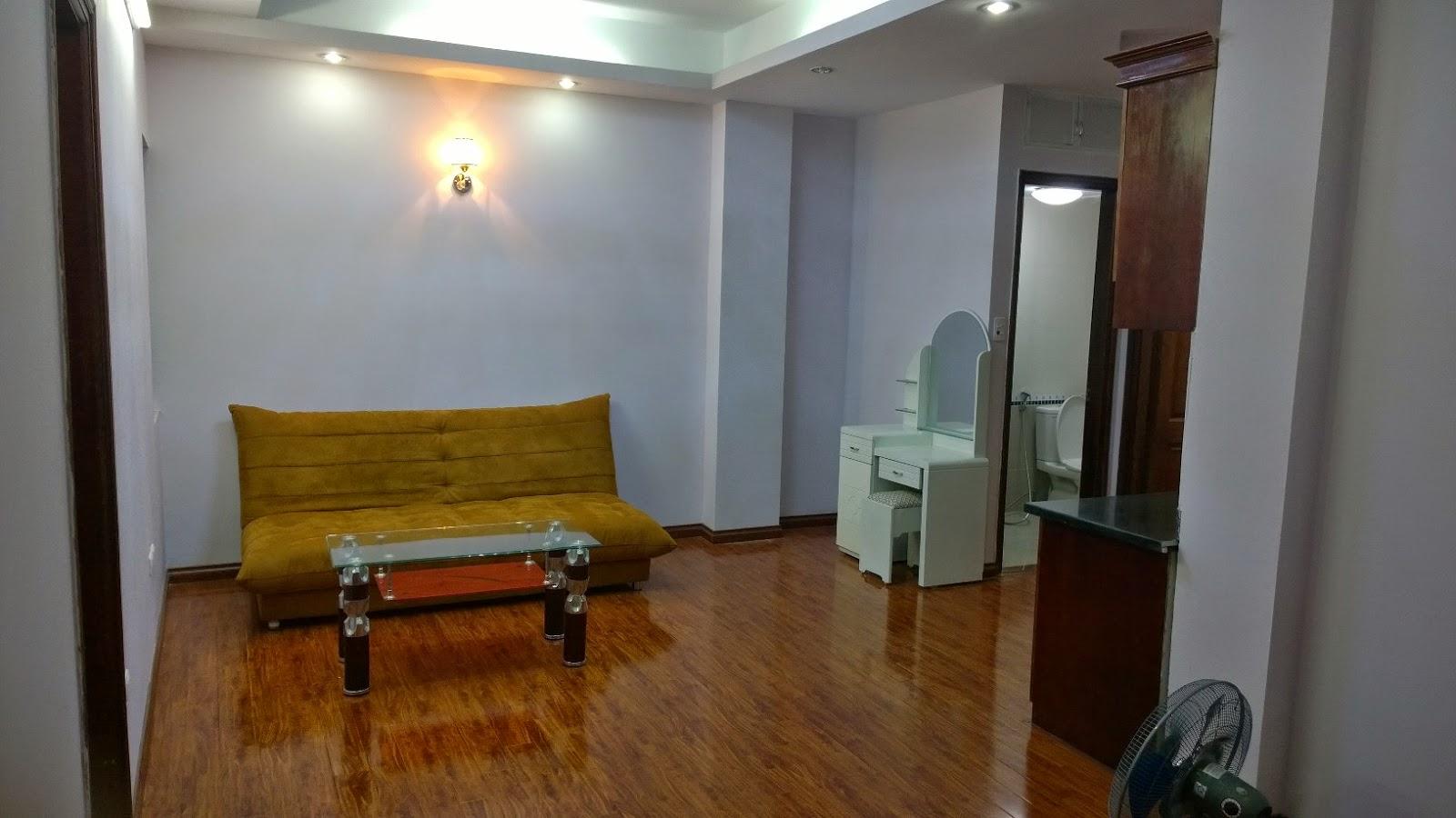Không gian phòng khách chung cư mini Trung Văn
