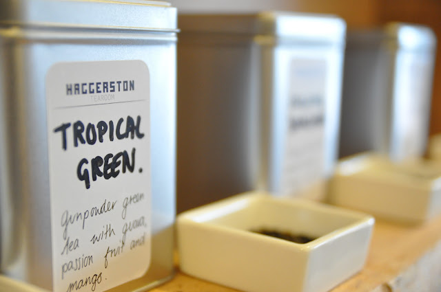 Haggerston Tearoom review Tropical Green tea leaves
