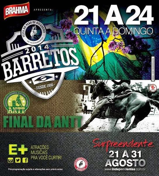 Programa��o da 59� Festa do Pe�o de Barretos 2014 - Final ANTT