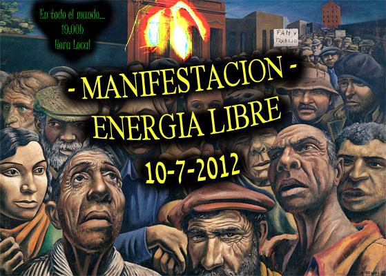 manifestación mundial... Energia libre ya!