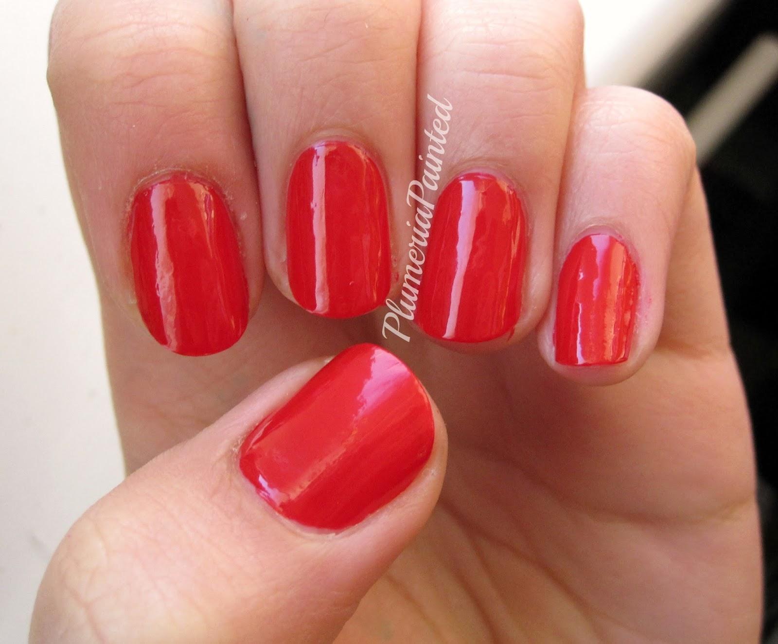 PlumeriaPainted: Red Nails; Seventeen - Dark Heart
