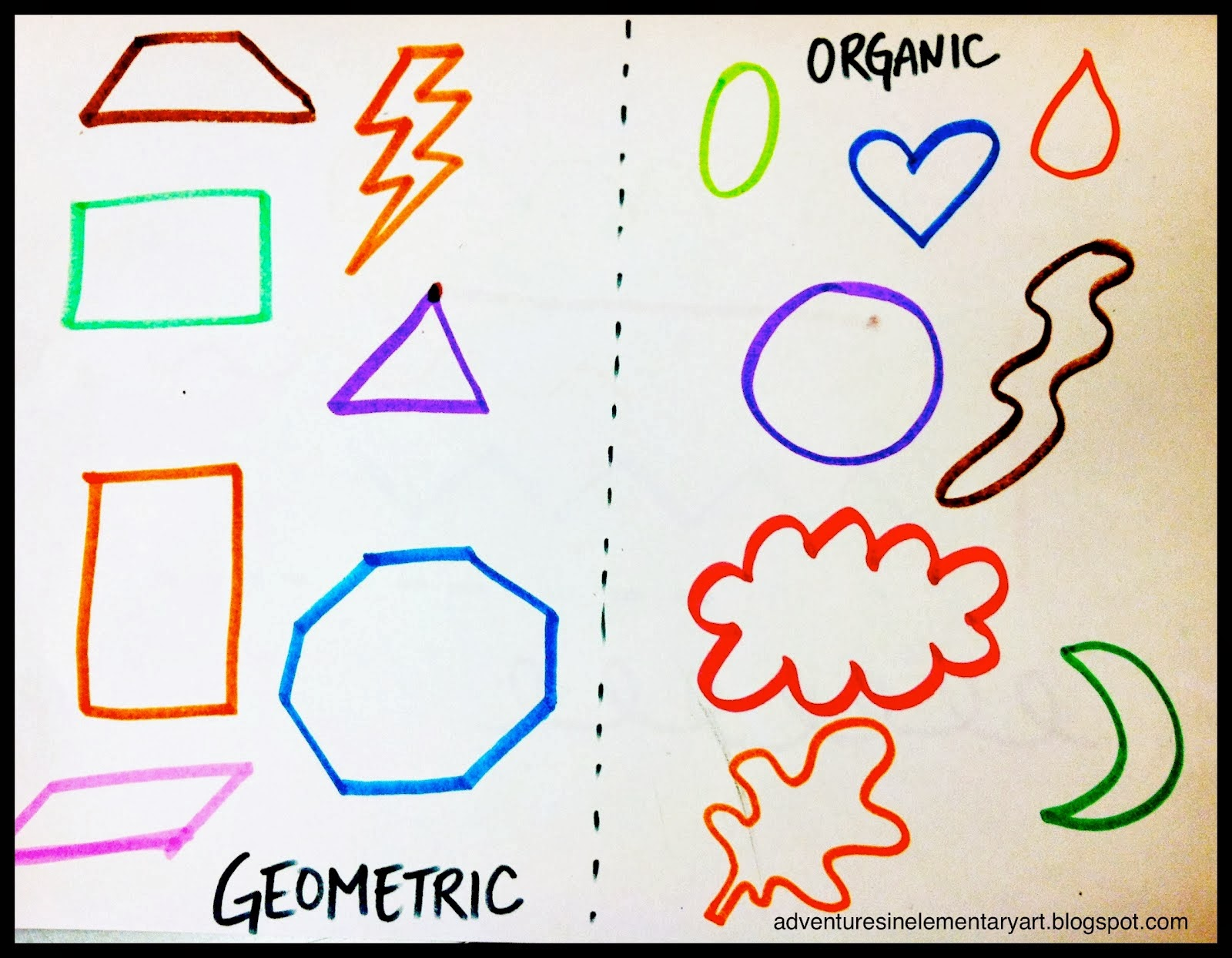 organic/geometric & primary/secondary - lessons - tes teach