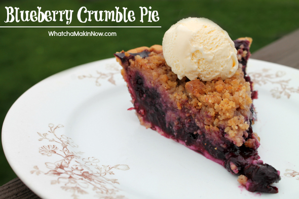 Blueberry Crumble Pie - think crumble with ground almonds... so good!