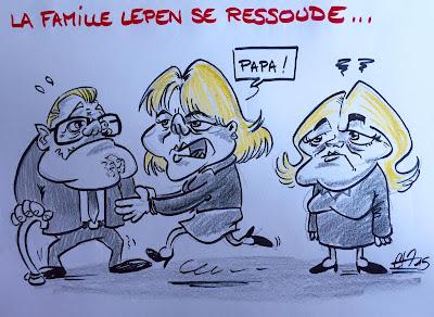 La famille Le Pen se ressoude... #Lepen #morano #raceblanche Guillaume Néel©