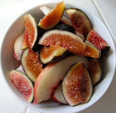 last fruits of summer, fig, nectarine