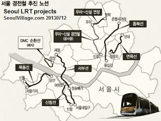 "Seoul 7 LRT projects (난곡선 추가..서울 경전철 7개 노선 가닥"" - 아시아경제 20130712)"