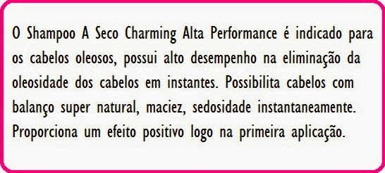 Shampoo a seco - Charming Alta Performance