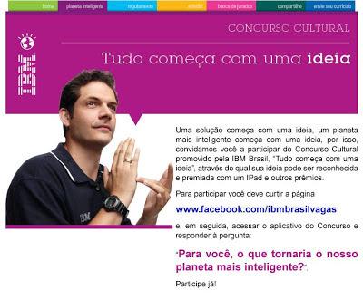 Concurso Cultural  IBM Brasil