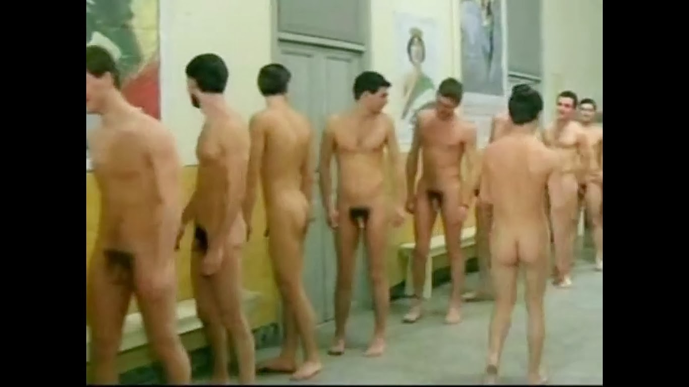 Straight naked men exam