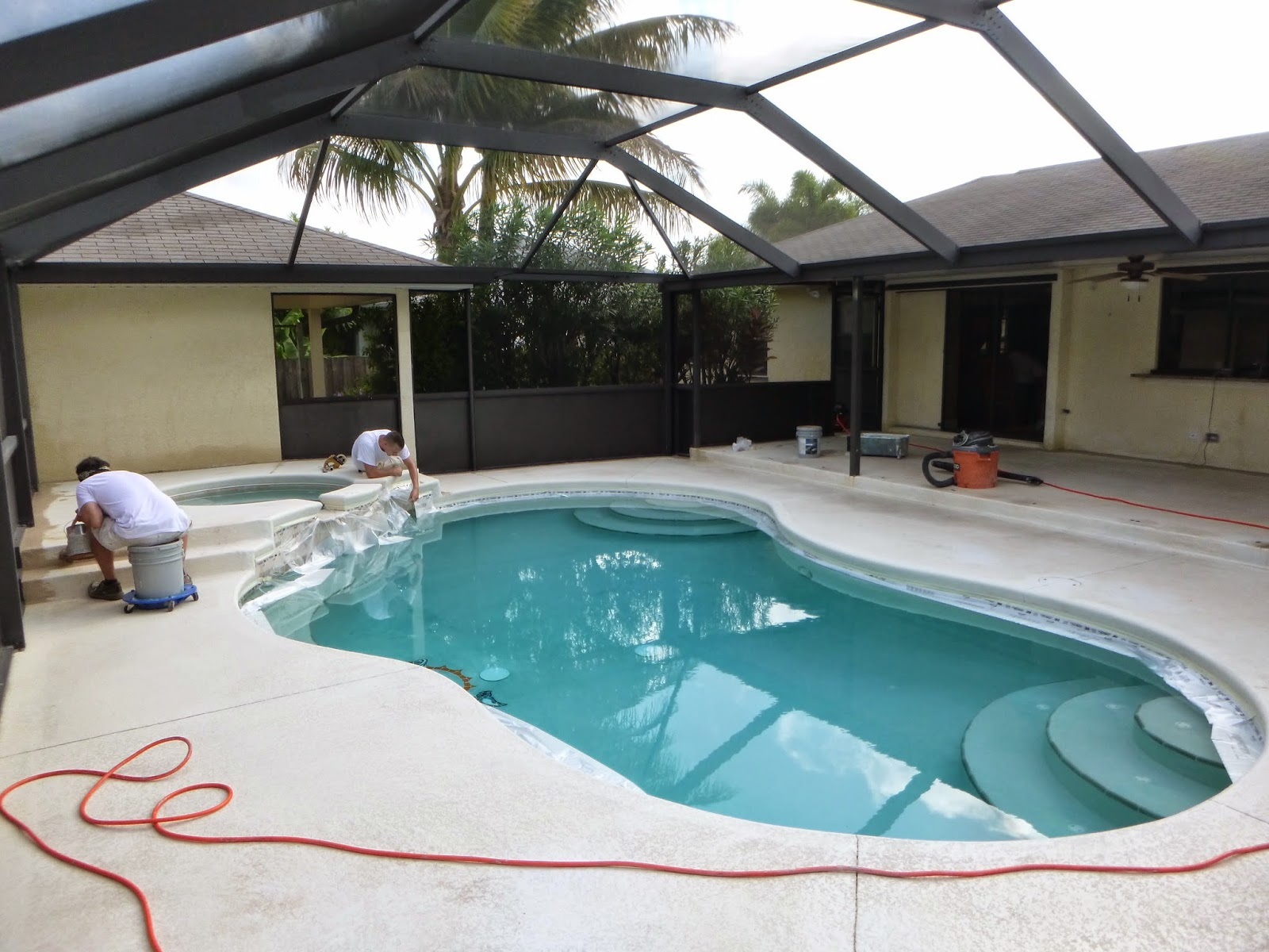 Etonnant Painting Pool Patio Deck Using H U0026 C Solid Color Concrete Stain