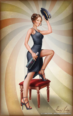 Henning Ludvigsen pin up girl