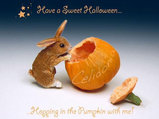 Miniatura Coniglietto di Halloween