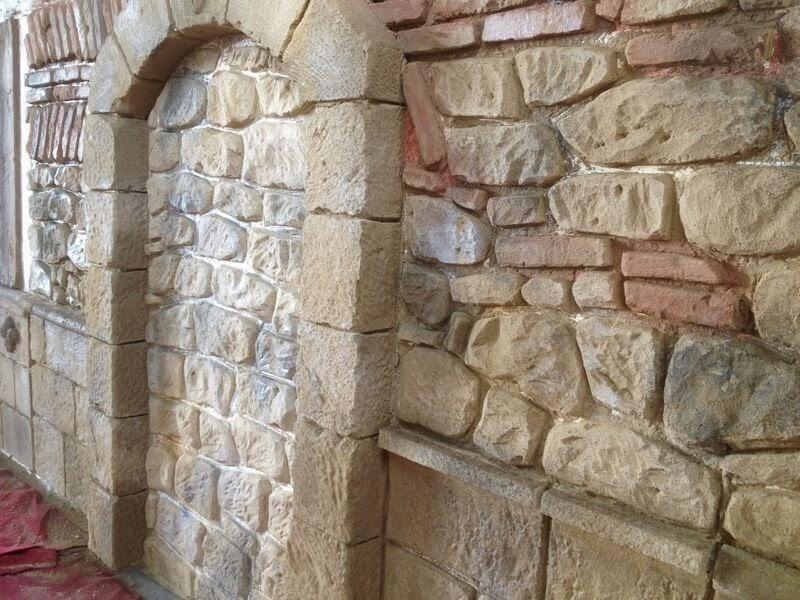 Reproducción de piedra, arcos con mortero ESTone.tex
