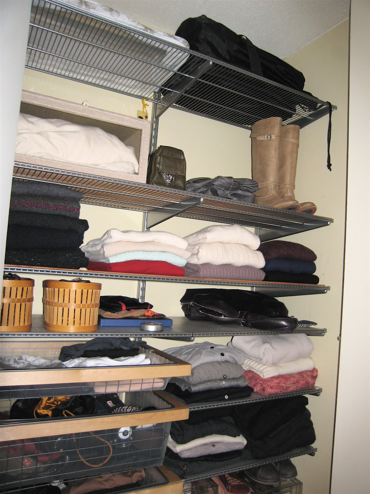 standing storage shelving it ideas keep a organization linen organize elfa closets closet and free organized systems