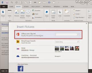 Insert Clip Art, Microsoft Word