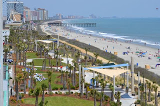 View of the Myrtle Beach boardwalk