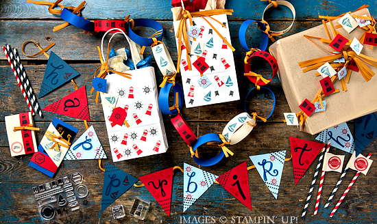 Project ideas using Stampin' Up! Settin' Sail stamp set