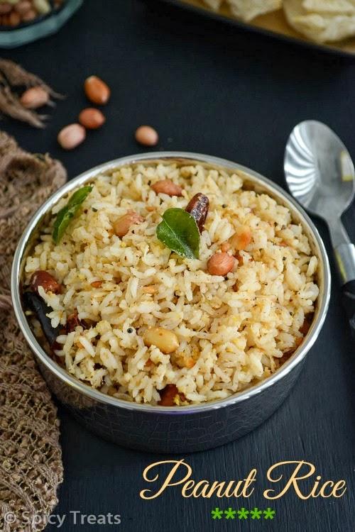 Spicy treats peanut rice verkadalai sadham easy lunch box recipes forumfinder Images