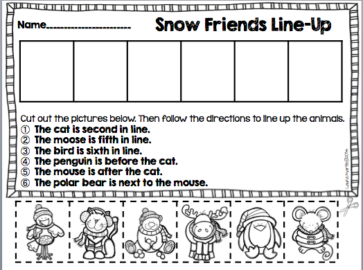 http://www.teacherspayteachers.com/Product/Ordinal-Numbers-and-Postional-Words-1606820